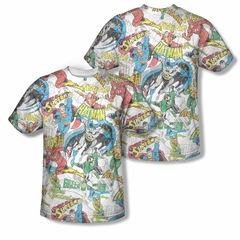 Superman Super Collage Sublimation Shirt Front/Back Print