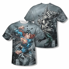 Superman Superman Vs. Doomsday Sublimation Kids Shirt Front/Back Print