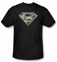 Superman T-shirt  All About The Benjamins Money Adult Black Tee Shirt