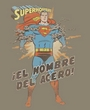 Superman T-shirt El Hombre Del Acero Spanish Superhero Adult Tee Shirt