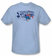 Superman T-Shirt Under Logo Classic Vintage Adult Retro Tee Shirt