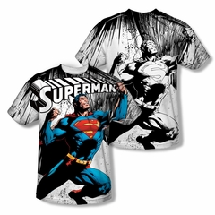 Superman To Infinity Sublimation Kids Shirt Front/Back Print