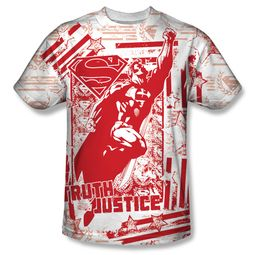 Superman Truth And Justice All Over Sublimation Shirt