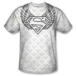 Superman Winged Shield Repeat Sublimation Shirt