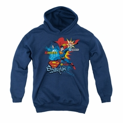 Superman Youth Hoodie Abilities Navy Kids Hoody