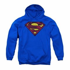 Superman Youth Hoodie Charcoal Shield Royal Blue Kids Hoody