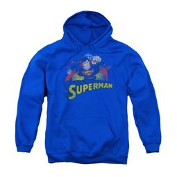 Superman Youth Hoodie Distresed Royal Kids Hoody