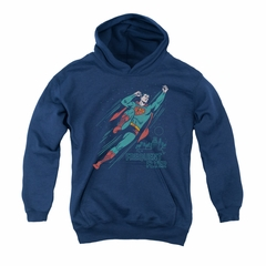 Superman Youth Hoodie Frequent Flyer Navy Kids Hoody