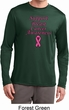 Support Breast Cancer Awareness Dry Wicking Long Sleeve