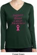 Support Breast Cancer Awareness Ladies Dry Wicking Long Sleeve