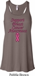 Support Breast Cancer Awareness Ladies Flowy Racerback