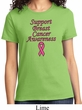 Support Breast Cancer Awareness Ladies T-shirt