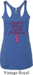 Support Breast Cancer Awareness Ladies Tri Blend Racerback