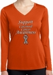 Support Carcinoid Cancer Awareness Ladies Dry Wicking Long Sleeve