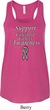 Support Carcinoid Cancer Awareness Ladies Flowy Racerback