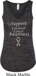 Support Carcinoid Cancer Awareness Ladies Flowy V-neck Tank Top