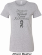 Support Carcinoid Cancer Awareness Ladies Longer Length Shirt