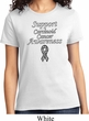 Support Carcinoid Cancer Awareness Ladies T-shirt