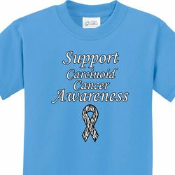 Support Carcinoid Cancer Kids Shirts