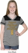 Support Childhood Cancer Awareness Girls Football Tee