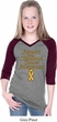 Support Childhood Cancer Awareness Girls V-neck Raglan