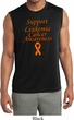 Support Leukemia Cancer Awareness Dry Wicking Sleeveless Shirt