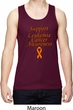 Support Leukemia Cancer Awareness Dry Wicking Tank Top