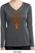 Support Leukemia Cancer Awareness Ladies Dry Wicking Long Sleeve