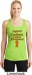 Support Leukemia Cancer Awareness Ladies Dry Wicking Racerback