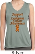 Support Leukemia Cancer Awareness Ladies Dry Wicking Tank Top