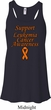 Support Leukemia Cancer Awareness Ladies Flowy Racerback
