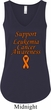 Support Leukemia Cancer Awareness Ladies Flowy V-neck Tank Top