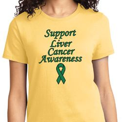 Support Liver Cancer Awareness Ladies T-shirt