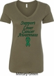 Support Liver Cancer Awareness Ladies V-Neck