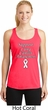 Support Lung Cancer Awareness Ladies Dry Wicking Racerback