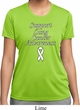 Support Lung Cancer Awareness Ladies Dry Wicking T-shirt