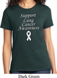Support Lung Cancer Awareness Ladies T-shirt
