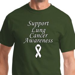 Support Lung Cancer Awareness Mens Shirts