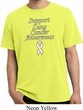 Support Lung Cancer Awareness Pigment Dyed Shirt