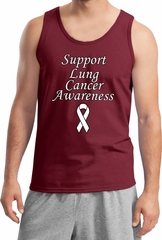 Support Lung Cancer Awareness Tank Top