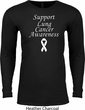 Support Lung Cancer Awareness Thermal Shirt