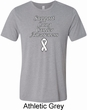 Support Lung Cancer Awareness Tri Blend Tee