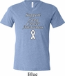 Support Lung Cancer Awareness Tri Blend V-neck