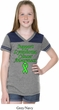 Support Lymphoma Cancer Awareness Girls Football Shirt