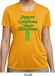 Support Lymphoma Cancer Awareness Ladies Dry Wicking T-shirt