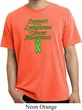 Support Lymphoma Cancer Awareness Pigment Dyed T-shirt