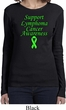 Support Lymphoma Cancer Ladies Long Sleeve