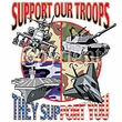 Support Our Troops T-Shirt - They Support You! Military Tee