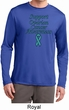 Support Ovarian Cancer Awareness Dry Wicking Long Sleeve