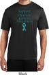 Support Ovarian Cancer Awareness Dry Wicking T-shirt